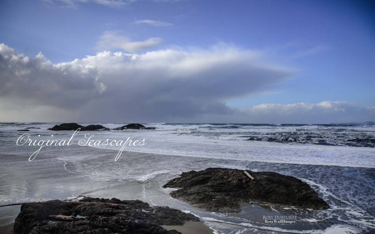 Storm Rolling in Wickaninnish Beach, Tofino by Roxy Hurtubise